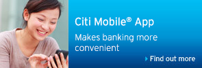 Citibank Mobile Logon with your mobile to enjoy fabulous offers.